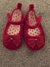 Marks and Spencer red velvet shoes Leicester, LE3 3TS