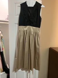 Black and Tan Sleeveless Dress Park Forest
