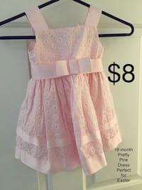 18 month size Sweet Heart Rose Pretty Pink Dress perfect for Easter