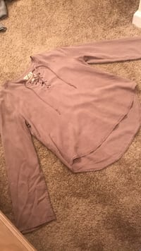 thread supply suede long sleeve lace up Loganville, 30052