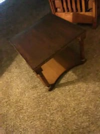 brown wooden 2-layer side table Norman, 73071