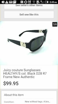 black Juicy Couture sunglasses screenshot Abbotsford, V2S 2C7