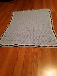 Crochet boy baby blanket