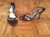 Bronze open shoes....size 7