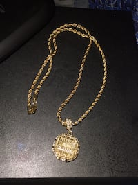 gold-colored necklace with pendant Greenville, 29607