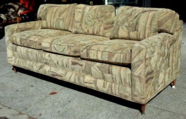 19250 Mid Century Style 80 Tapestry Sofa