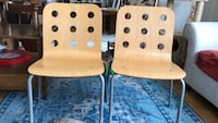 2 ikea wooden chairs . Like new New York, 10463