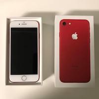 Product red iphone 7 with box 128GB Los Angeles, 91352