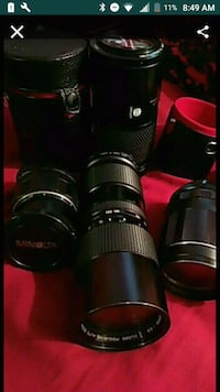 3 Camera lenses with cases  Indio, 92201