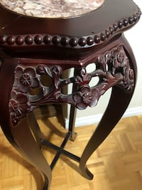 """36"""" tall plant stand / wood & marble table Toronto, M2J 2C4"""