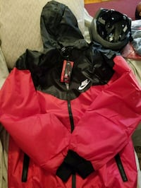 black and red zip-up hoodie Silver Spring, 20903
