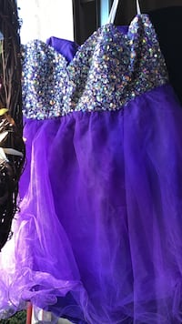 purple sequin spaghetti strap dress Pittsburg, 94565