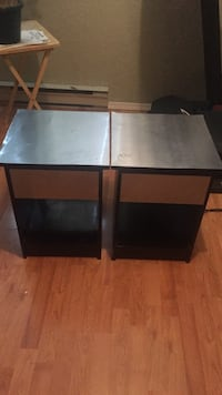 two black wooden side tables Victoria, V8Z 7E3