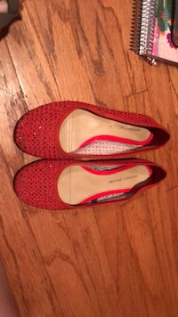 pair of red leather flats Potomac, 20854