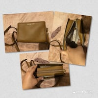Micheal kors light brown bag