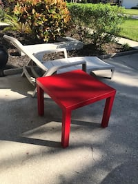 Red IKEA end table - fair condition 828 mi