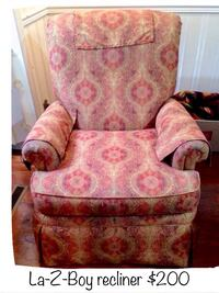 pink and white floral sofa chair Niskayuna, 12309