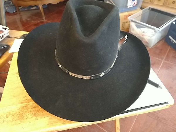 dc80d12160ad8 Used Resistol black cowboy hat for sale in Palmdale - letgo