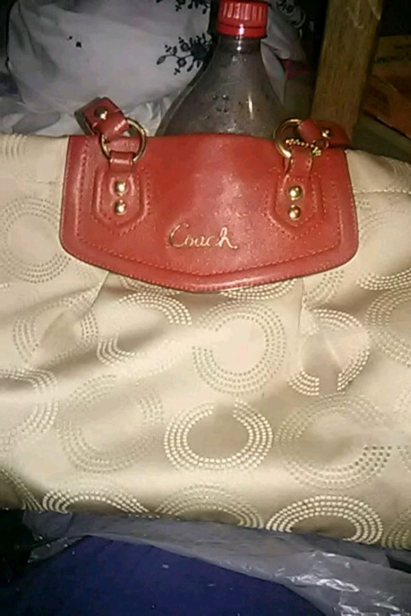 f2055d81ce7d Used red Coach monogram leather handbag for sale in Indianapolis - letgo