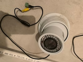 Outdoor wired turret coax security camera ADT