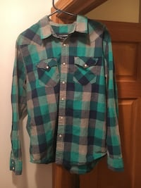 Blue Gray Turquoise Dress Shirt Watertown city, 53094
