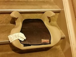 baby's gray and black Evenflo car booster seat