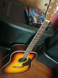 red and black acoustic guitar Dartmouth