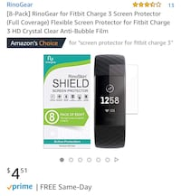 screen protector for Fitbit charge 3 (8pack) Manteca, 95337