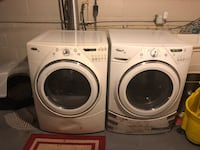 white front-load washer and dryer set Maple Heights, 44137