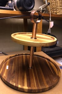 Table stand for cakes or fruits made from wood Oshawa, L1K 2A9