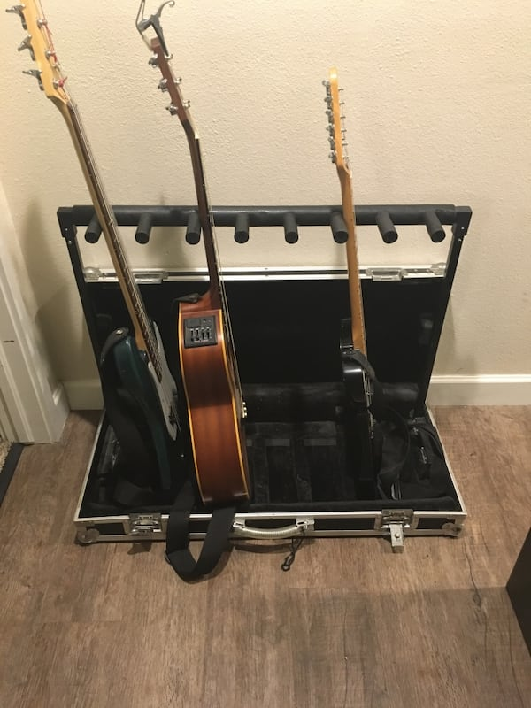 7 guitar stand travel case  0