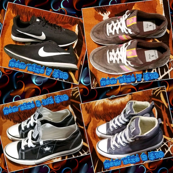 assorted pairs of Nike shoes