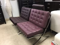 Barcelona chair, Real Leather 米西索加