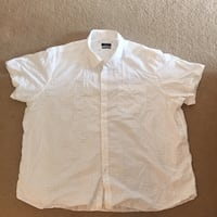 White button-up shirt North Vancouver, V7P