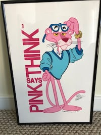 Pink Panther signed by Friz Freleng Artist Proof. Pink says Think. Washington, 20003