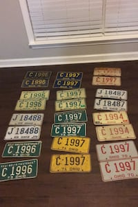 Old car tags