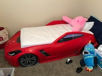 red and white car bed frame 2063 mi