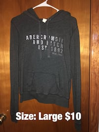black and white Hollister pullover hoodie Sloan, 14212