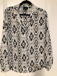 White/Black tribal print shirt