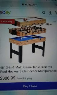 brown and blue wooden foosball table screenshot El Paso, 79915