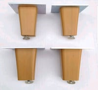 4 - SETS OF *BRAND NEW!* SOLID WOOD FURNITURE LEGS WITH METAL PLATES!! Edmonton, T6R 3L6