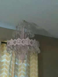 Baby pink chandelier with crystals  Mobile, 36605
