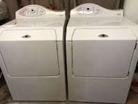 white clothes washer and dryer set 1950 mi