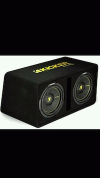 black and red Kicker subwoofer Brooklyn, 11206