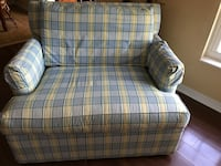 blue,yellow and white plaid fabric armchair Ocala, 34476