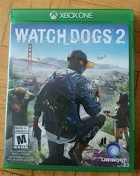 Watch Dogs 2 Xbox One game case Toronto, M6J 1H4