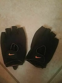 pair of black leather Nike gloves