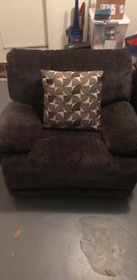 gray fabric sofa chair with ottoman Montgomery Village, 20886