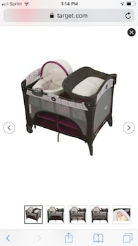 baby's black and pink travel cot Upper Merion, 19406