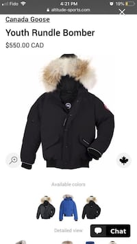 Youth Canada goose jacket Pickering